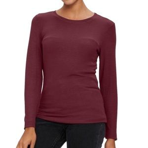 Michael Stars Ribbed Long Sleeve Crew Neck